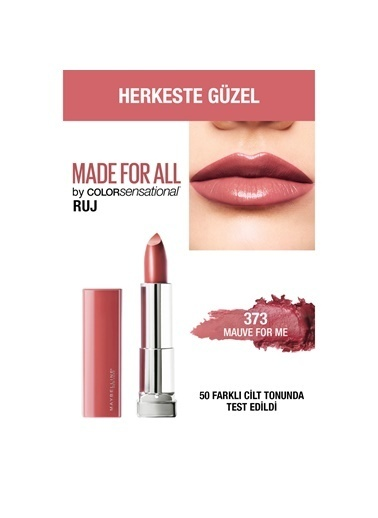 Maybelline Maybelline New York Color Sensational Made For All Ruj - 373 Mauve For Me (Gül Kurusu-Nude) Kahve